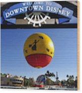 Downtown Disney Tribute Poster 2 Wood Print