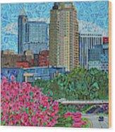 Downtown Raleigh Wood Print
