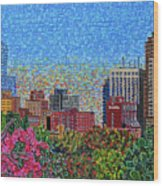 Downtown Raleigh - October Sunset Wood Print