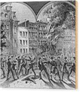 Draft Riots Wood Print