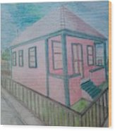 Dream Cottage Wood Print