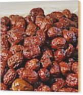 Dried Chinese Red Dates Wood Print