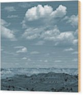 Drifting Clouds And Shifting Shadows Wood Print