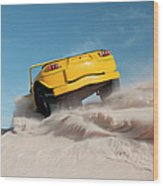 Driving On Sand, Jericoacoara, Brazil Wood Print