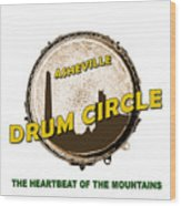 Drum Circle Logo Wood Print