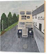 Dublin Bus Painting Wood Print
