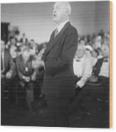 Dudley Field Malone Delivering Speech Wood Print