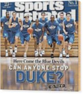 Duke University Basketball Team Sports Illustrated Cover Wood Print