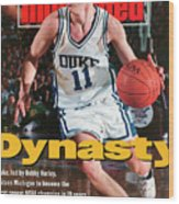 Duke University Bobby Hurley, 1992 Ncaa National Sports Illustrated Cover Wood Print