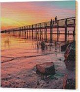 Dunedin Pier Wood Print