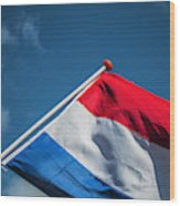 Dutch Flag Wood Print
