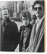 Dylan & Others In Sheridan Square Wood Print