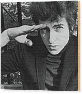 Dylan Salutes In Sheridan Square Park Wood Print