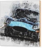 E-type Racing Wood Print