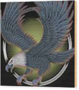 Eagle Illustration  Wood Print