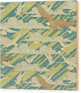 Eagles And Pigeons Wood Print