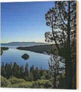 Early Morning Emerald Bay Wood Print