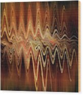 Earth Frequency Wood Print