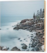 East Coast Winters Wood Print