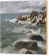 East Shore, Lake Tahoe Wood Print
