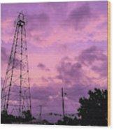 East Texas Oil Derrick Wood Print