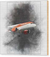 Easyjet Airbus A319-111 Painting Wood Print