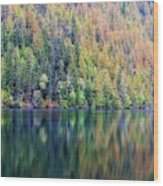 Echo Lake Autumn Shore Wood Print