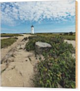 Edgartown Lighthouse Marthas Vineyard Wood Print