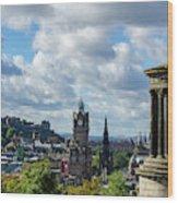 Edinburgh Castle From Calton Hill Wood Print