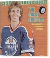 Edmonton Oilers Wayne Gretzky Sports Illustrated Cover Wood Print