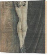 Edouard Chimot Nude In Boudoir  Wood Print