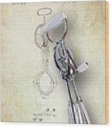 Eggbeater With Antique Eggbeater Patent Wood Print