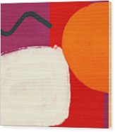 Elation 3- Abstract Art By Linda Woods Wood Print