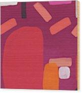 Elation 5- Abstract Art by Linda Woods Wood Print