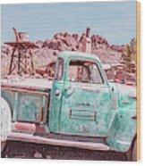 Eldorado Ghost Town Searchlight Nevada Pano Wood Print
