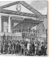 Election Hustings In Covent Garden Wood Print