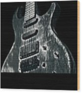 Electric Guitar Musician Player Metal Rock Music Lead Black Wood Print