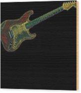 Electric Guitar Musician Player Metal Rock Music Lead Full Body Wood Print