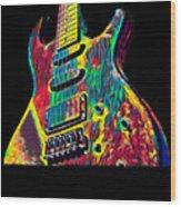 Electric Guitar Musician Player Metal Rock Music Lead Wood Print