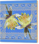 Electric Yellow Water Lilies Wood Print
