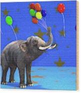 Elephant Celebration Wood Print