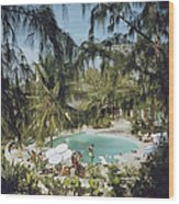 Eleuthera Pool Party Wood Print