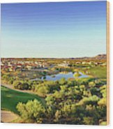 Elevated View Of Golf Course, Sun City Wood Print