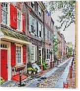 Elfreths Alley Wood Print
