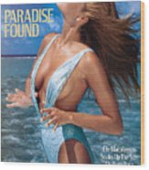 Elle Macpherson Swimsuit 1986 Sports Illustrated Cover Wood Print
