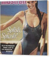 Elle Macpherson Swimsuit 1987 Sports Illustrated Cover Wood Print