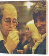Elton And Rod Wood Print