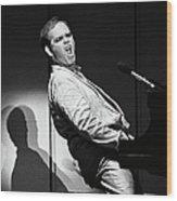 Elton John In Concert Wood Print