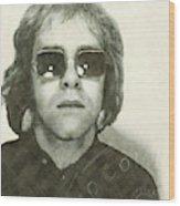 Elton John Passport Photo 1972 Wood Print