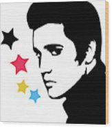 Elvis Presley 4 Wood Print